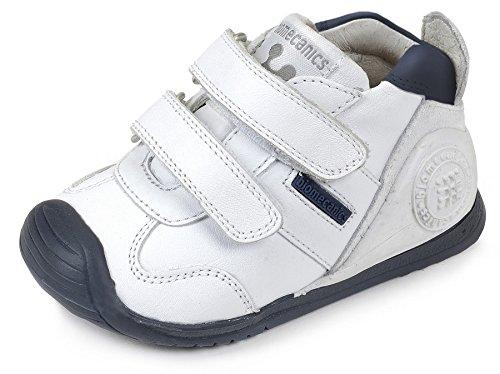 Biomecanics 151157, Zapatillas para Bebés, Blanco (Blanco/Azul/Sauvage), 22 EU