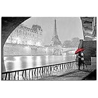 Poster laminato con bacio a Parigi sotto