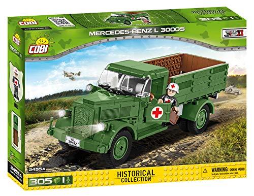 COBI 2455A - Baukästen, MB L3000S 4 x 2, 3.1 Ton Truck, grün