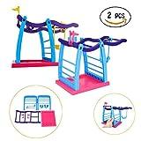 Jungle Swing Gym Spielset, Gusspower Interaktive Baby Affe Klettergerüst Plattform Affe Klettern Schwingen stehen Spielzeug (2Pcs)