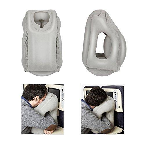Zestnation-Cuscino da viaggio gonfiabile comodo e morbido, collo, multifunzione aria cuscino campeggio poggiatesta ufficio Napping cuscino, ideale per l