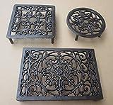 Ironmongery World® salvamanteles de hierro fundido placa caliente soporte cocina encimera pantalla rústico Vintage