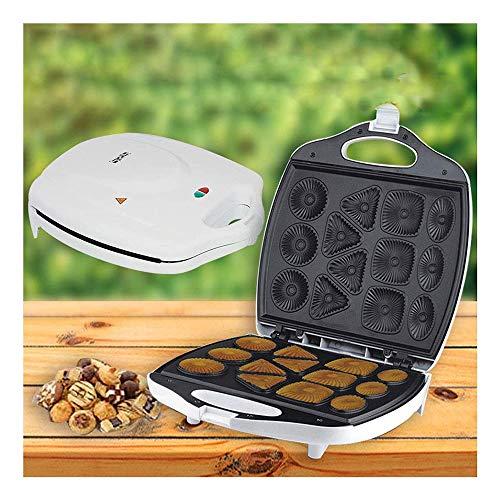 Non-Stick Teller Kuchen Maschine, Automatik Edelstahl Frühstück Maschine Und Cookie Maker, Hohe Kapazität Mode Maschine Mit Ausgeglichener Temperatur Controler 1400W