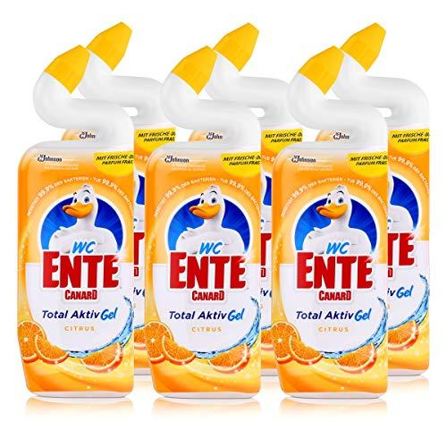 Citrus-gel-reiniger (WC Ente Total Aktiv Gel Citrus 750ml - Flüssiger WC Reiniger (6er Pack))