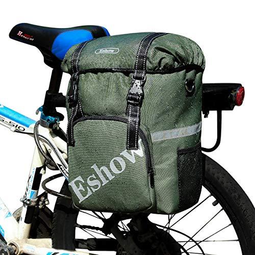 Eshow 18L Alforjas para Bicicleta Sillín Bolsa con Cubierta Impermeable Asiento Trasero de Portaequipajes...