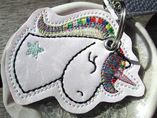 EINHORN personalisierbar mit Name UNIKAT 4 glitzernd bunt Schlüsselanhänger Taschenanhänger Geschenk Muttertag Ostern -