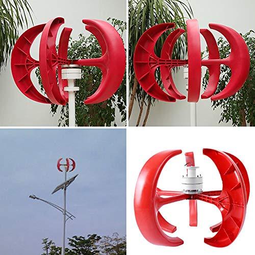 koulate 12V Wind Turbine Generator, Wind Turbine Generator Kit 5 Flügel Vertikale Windkraftanlagen Generator für Haus und Boot(1#)