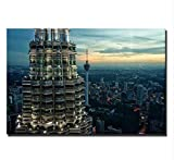 Chaoaihekele Kuala Lumpur Twin Towers Poster Und Drucke