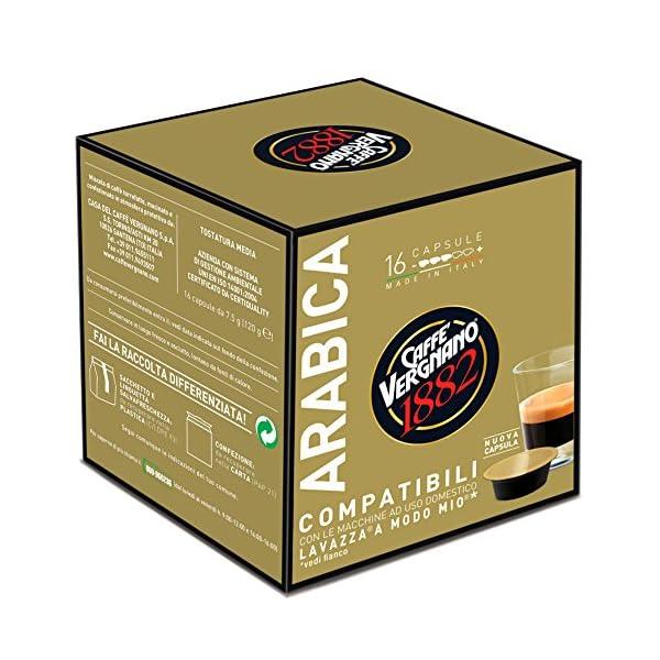 Caffè Vergnano 1882 Capsule Caffè Compatibili Lavazza A Modo Mio, Arabica - Confezione da 16 capsule 2 spesavip