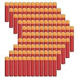 COCOSO 120 piezas 9,5 cm rojo de espuma dardos recambio para Nerf...