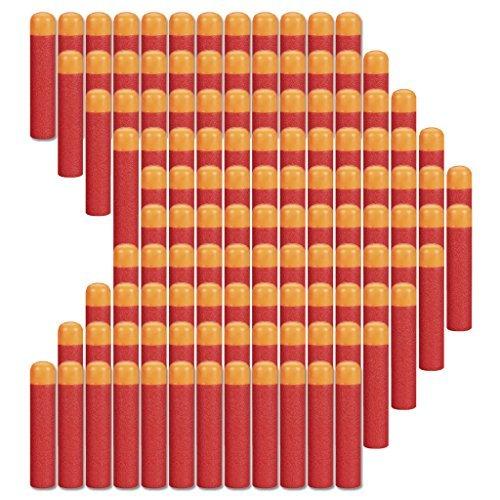COCOSO 120 piezas 9,5 cm rojo de espuma dardos recambio para Nerf N-Have Elite Mega Series Pistola de juguete