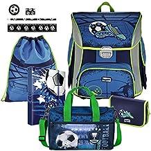 45c39883d200a Soccer Blue Fußball Football BAGGYMAX SIMY Leicht Schulranzen Set 9tlg Hama  mit SCHULSPORTTASCHE und SCHREIBSET