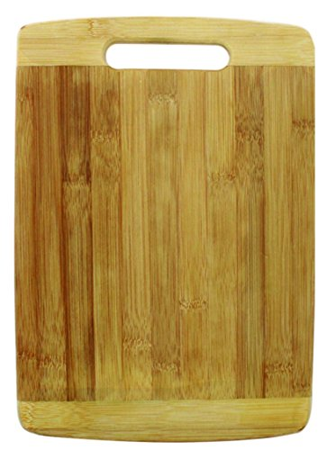 Vivir® Natural Bamboo Rectangular Chopping Board Cutting Board Large With Handle (32cm x 22cm x 1.8 cm)  available at amazon for Rs.449