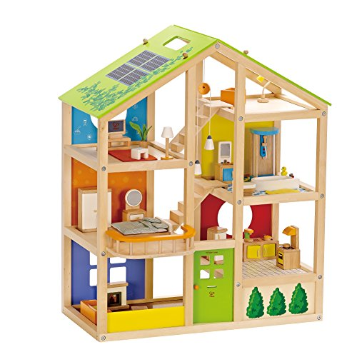 Hape HAP-E3401 All Season Doll's House (Furnished)