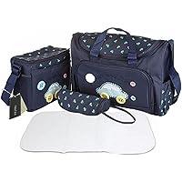 Elegante borsa Tote 4 Mummy-Borsa impermeabile per il cambio del pannolino Set allattamento-Borsa fasciatoio, porta-Bottiglia latte