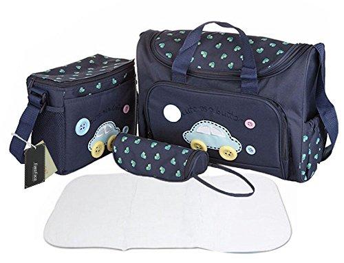 Elegante borsa Tote 4 Mummy-Borsa impermeabile per il cambio del pannolino Set allattamento-Borsa fasciatoio, porta-Bottiglia