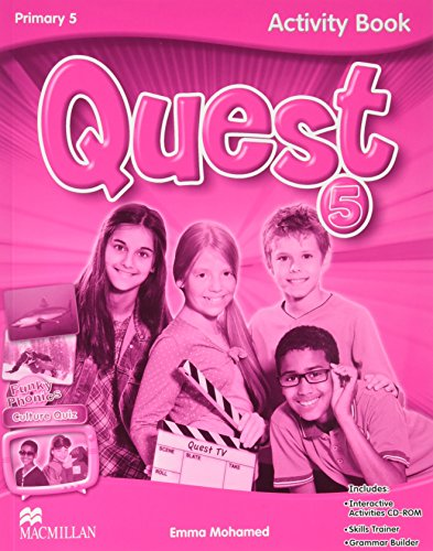 Quest-Primary-5-Activity-Book-Grammar-Builder-CD-ROM-Interactive-Activities-Tiger-9780230478718