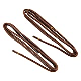 REMA 1 Paar Premium Schnürsenkel - handgewachst - rund - ca. Ø 2,0 mm für Business und Anzugschuhe (75 cm, Cognac)