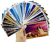 60PCS Cartes Postales Paysages Liuer Cartes d'Invitation Carte de Voeux Classique Bonne Année pour Baby Shower Joyeux Anniversaire Fille Enfant Décorations et Accessoires de Fêtes(143 * 93mm)