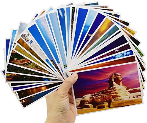 60PCS Tarjetas Postales del Mundo Liuer Tarjeta de Felicitación Cumpleaños Tarjetas Adorables...