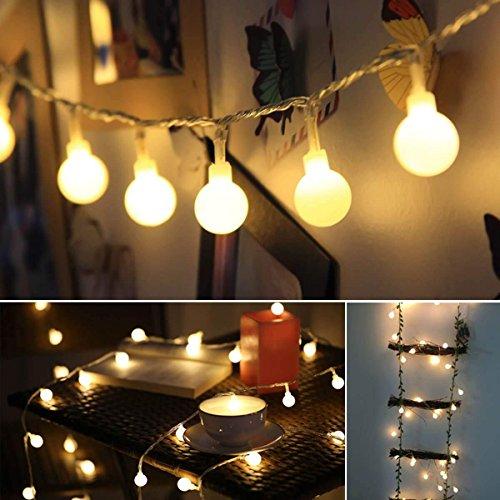 Guirnalda Luces, 10M 100 LED Blancas de Luz Cálida Cadena de Luces,...