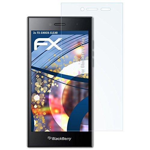 atFolix Schutzfolie kompatibel mit BlackBerry Leap Panzerfolie, ultraklare & stoßdämpfende FX Folie (3X)