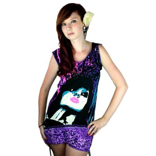 Too Fast -  T-shirt - Donna noir-violet
