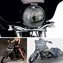"""Safego 7 """" LED para Harley Davidson de la motocicleta proyector Daymaker HID Cree LED de la bombilla del faro blanco faros Alto bajo haz ( Negro )"""