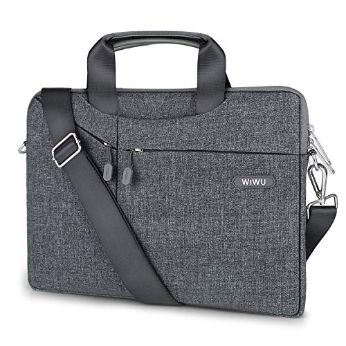 EKOOS 13 Zoll Laptop Notebook Schultertasche, 3 Way Business Aktenkoffer Tasche Hülle Sleevel wasserdichte für 13 Zoll New MacBook Pro Touch Bar/Air/Pro Surface Laptop 2017 Ipad Pro (13,3, Grau)