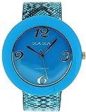 ZAZA London LLB855/4 - Reloj para mujeres, correa de plástico color azul