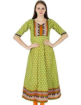 Bollywood Kurta indio del diseñador impresión floral de las mujeres de etnias Kurti Top túnica del vestido