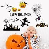 UberLyfe Happy Halloween Pumpkin Wall Sticker Size 3 (Wall Covering Area: 48cm x 66cm) - WS-001363