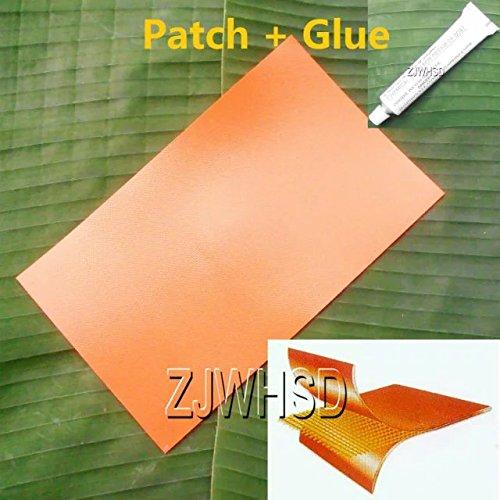 23,9x 35,6cm (24x 36cm) orange PVC Patch + Kleber für aufblasbare Boot Raft Kajak Kanu Wasser Toy Repair Abbott