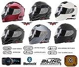 Best Vélos Plage Cruiser - moto casque modulable VCAN V271 blinc 5 bluetooth Review