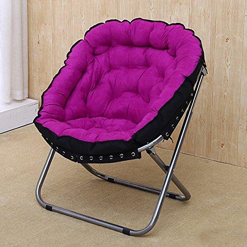 FEI Confortable canapé paresseux pour chambre salon dortoir balcon Chaise pliante Chaise longue 4 couleurs Solide et durable (Couleur : Violet)