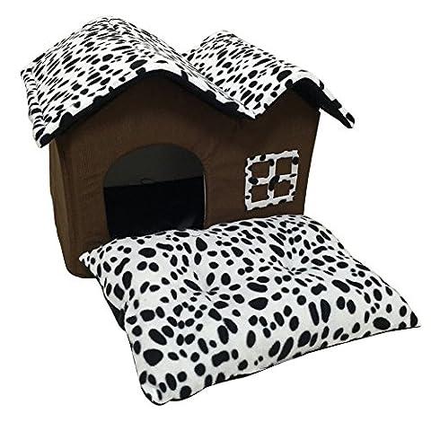chendongdong pliable Pet chien chat lit Coussin Tapis de maison Cave Double toits Durable Grand