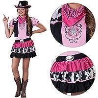 Amscan-Costume per travestimento da Cowgirl, rosa, con Bandana e cappello per bambini, stile Cowboy Wild West Jesse Rodeo, Line Dance