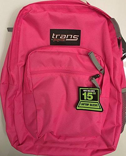 Trans von JanSport Supermax Pink Fluo 38,1cm Laptop Rucksack - Trans Computer