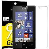 Verre Trempé Nokia Microsoft Lumia 520, NEWC Film Protection en Verre trempé écran Protecteur vitre ANTI RAYURES SANS BULLES D'AIR Ultra Résistant Dureté 9H Protector pour Nokia Microsoft Lumia 520