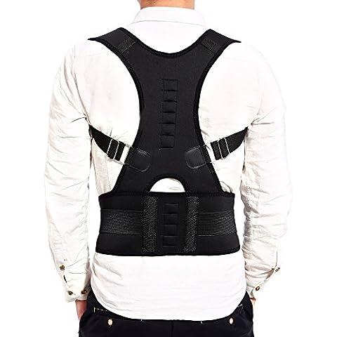 CLE DE TOUS - Talla XL Sorpote Faja Para la Espalda Faja para Corregir la Postura de la Columna Corrector de Espalda para Aliviar Dolor