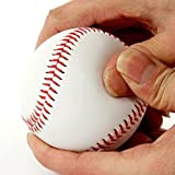 2 Pack of Baseball Adult Youth Unmarked Softball Pu Leather Double stitching Hand Sewing Baseball for Traing, Competition and Gift-Soft Ball