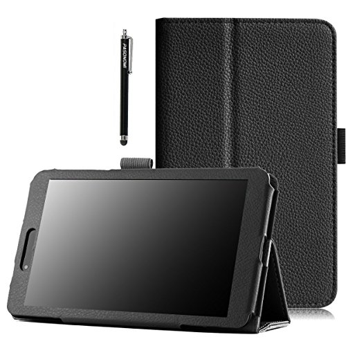 Pu-pads (LG G Pad 7.0 Hülle, Pasonomi® Ultra Slim Premium PU Leder Tasche Hülle Ständer case Für LG G Pad 7.0 (V400) 17,8 cm (7 Zoll) Tablet-PC, Smart Cover mit Auto Sleep Wake up / Standfunktion (LG G Pad 7.0, Schwarz))