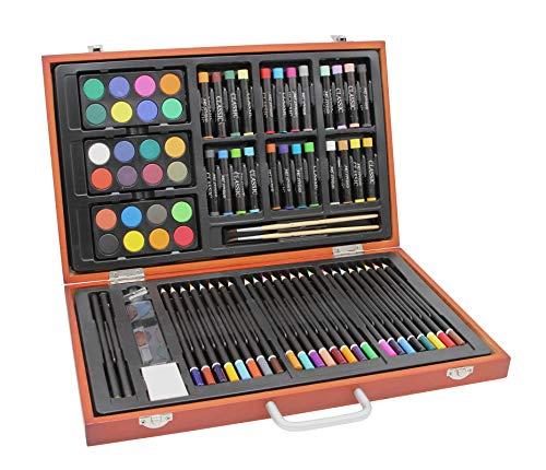Gran artista-Set/juego cofre madera - lápices coloures