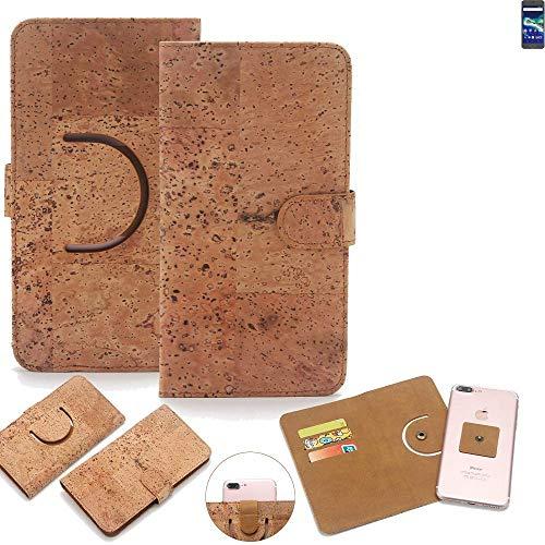 K-S-Trade Schutz Hülle für General Mobile GM 6 Handyhülle Kork Handy Tasche Korkhülle Handytasche Wallet Case Walletcase Schutzhülle Flip Cover Smartphone