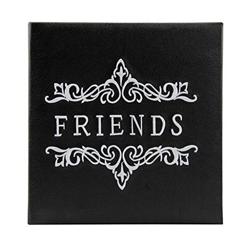 FOOHAO- Noir PU Cover Insert Album photo créatif, 160 Photos -6 '' (6 × 4 '' Photos) (Couleur : White pages)