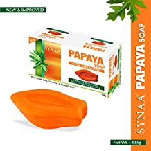 Synaa Papaya Soap - Herbal Skin Whitening Soap with Vitamin E (Pack of 1) 135g