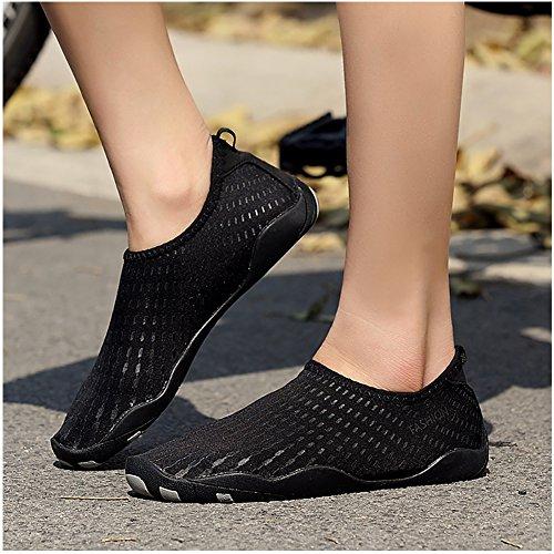 Prontamente Água Hill Pretos Homens Aqua pele Sapatos Meias Mulheres Paris BwtHTqx