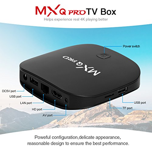 TV Box Android 4K Boîtier TV [2GB RAM+16GB ROM] [2019 Dernière Version] SUPERPOW Android Smart TV, Android Box avec HD/H.265 / 4K / 3D (MXQ Pro New)