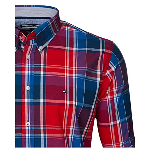 TOMMY HILFIGER CUSTOM FIT Camicia Uomo maniche Lunghe colore RED MONTANA RED