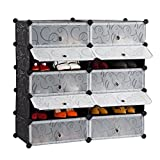 #7: House of Quirk DIY Plastic 10 Cube Shoe Rack ,Organizer, Bookcase, Shoes Cabinet